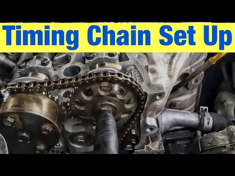 How to Set Up the Timing Chain and Cams on a Toyota 2.4 L Engine