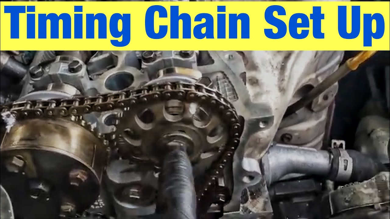 hight resolution of how to set up the timing chain and cams on a toyota 2 4 l engine