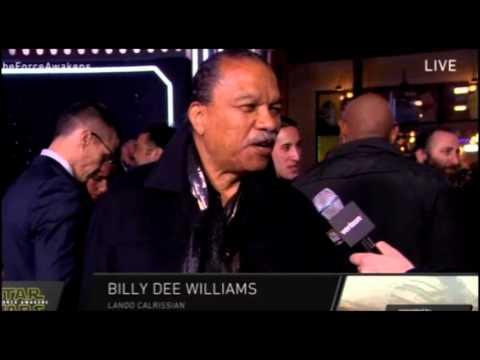 Billy Dee Williams Interview - Star Wars The Force Awakens Red Carpet