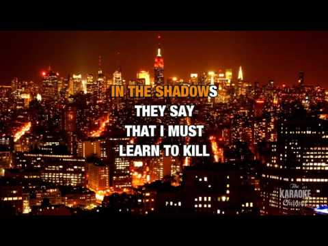 In The Shadows in the style of The Rasmus | Karaoke with Lyrics