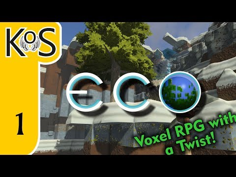Eco Ep 1: A RESPONSIBLE MINECRAFT? - BEAUTIFUL NEW WORLD - Let's Play, Gameplay