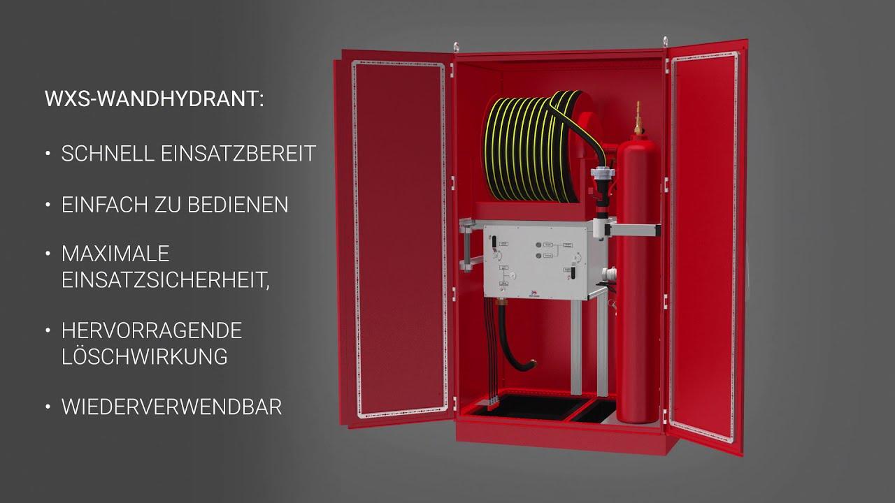 Wandhydrant WXS mit One Seven Druckluftschaum