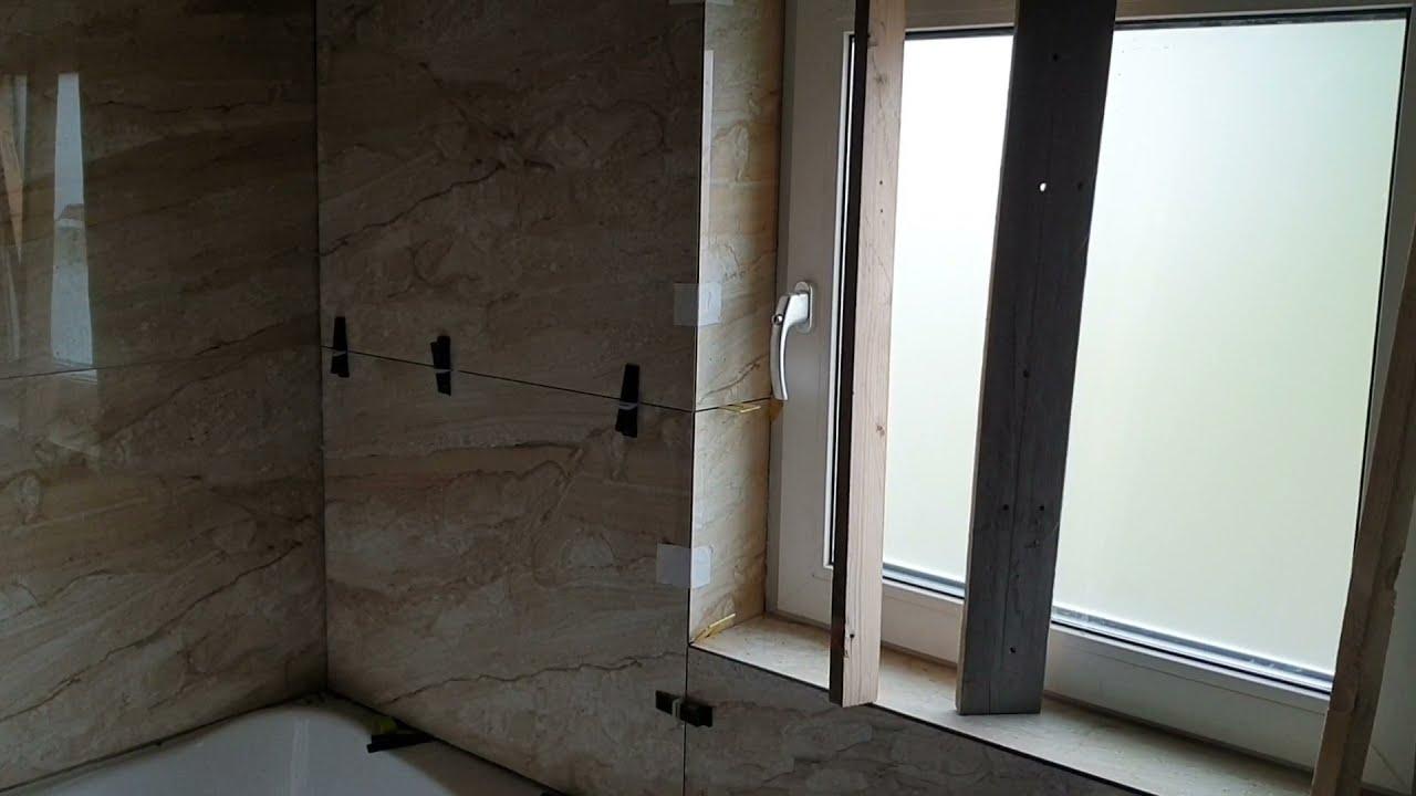 120 bij 60 tegels plaatsen in badkamer