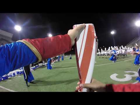 Cedar Park High School Marching Band 2017 GoPro Run Colorguard Cam