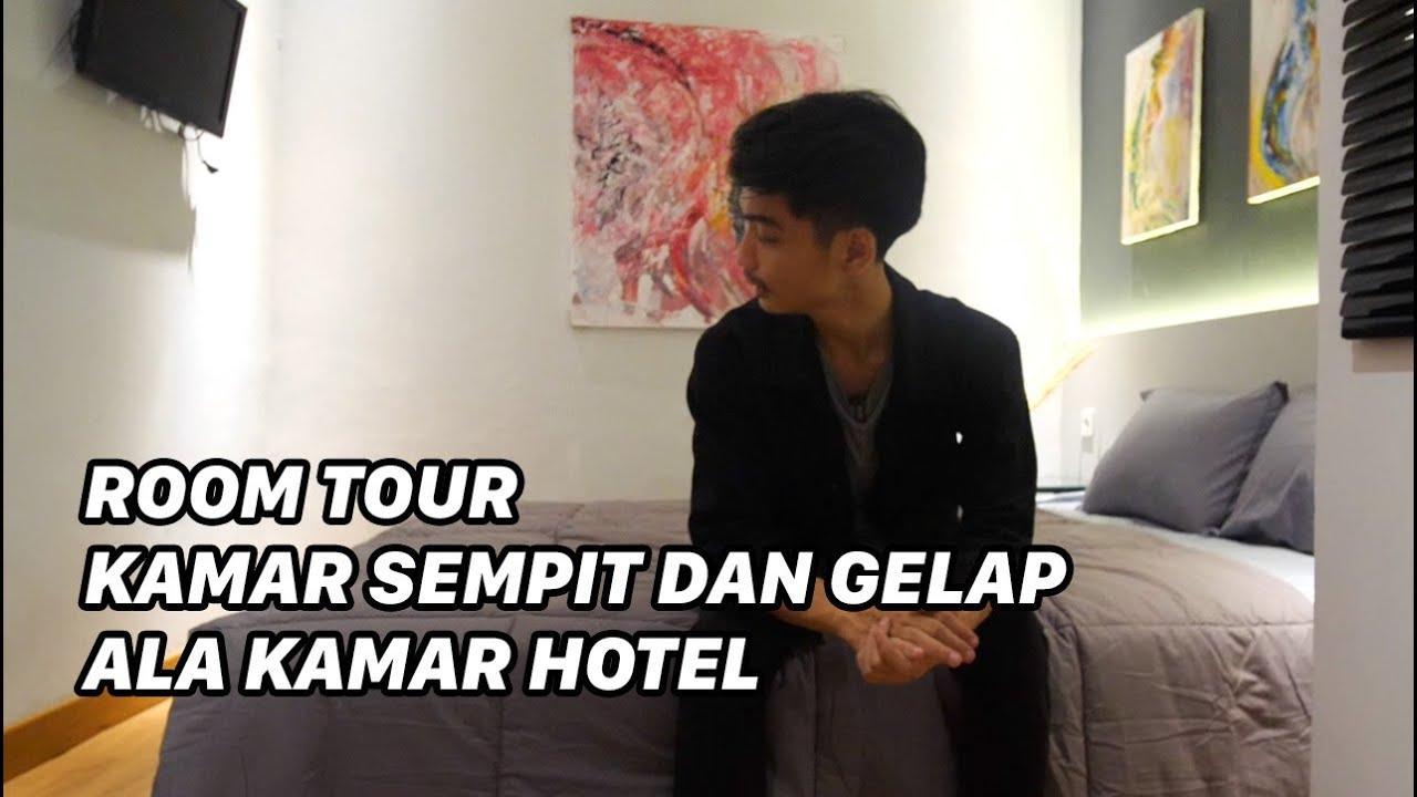 ROOMTOUR KAMAR SEMPIT DAN GELAP ALA HOTEL (2,4m x 2,6m)