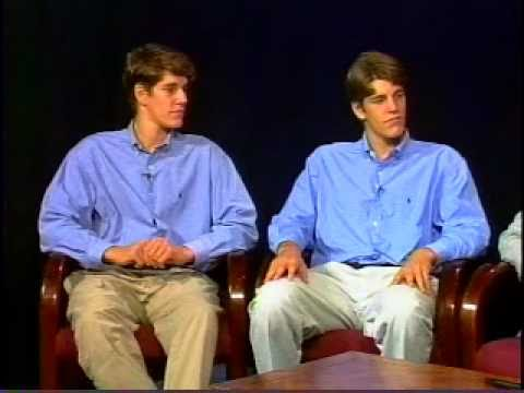 Winklevoss twins, Tyler & Cameron, co-creators of Facebook, interview from 1999