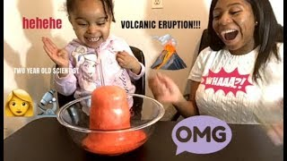 CRAZY VOLCANO EXPLODES AMAZING SCIENCE EXPERIMENT WITH PRINCESS MALIA AND MOMMY