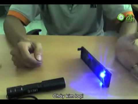 Đèn laser Thủ phạm gây cháy nổ xe - Tin video 24h.flv