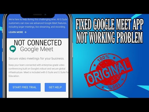 How To Fix Google Meet App Not Working Problem Solved 2020 Youtube