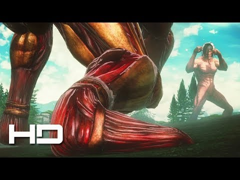 ATTACK ON TITAN 2 (PS4) Eren Vs Armored Titan Full Fight HD - Walkthrough Gameplay Cutscene