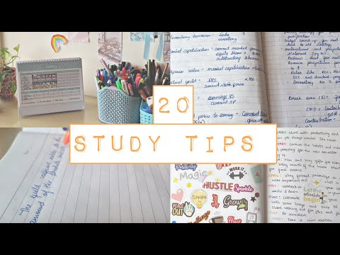 20 STUDY TIPS for students 2021 | Simple study tips || himani shah