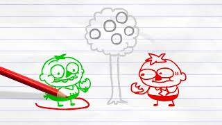 Pencilmate Steals Candy!  in  LOLLIGAGS   Pencilmation Cartoons for Kids