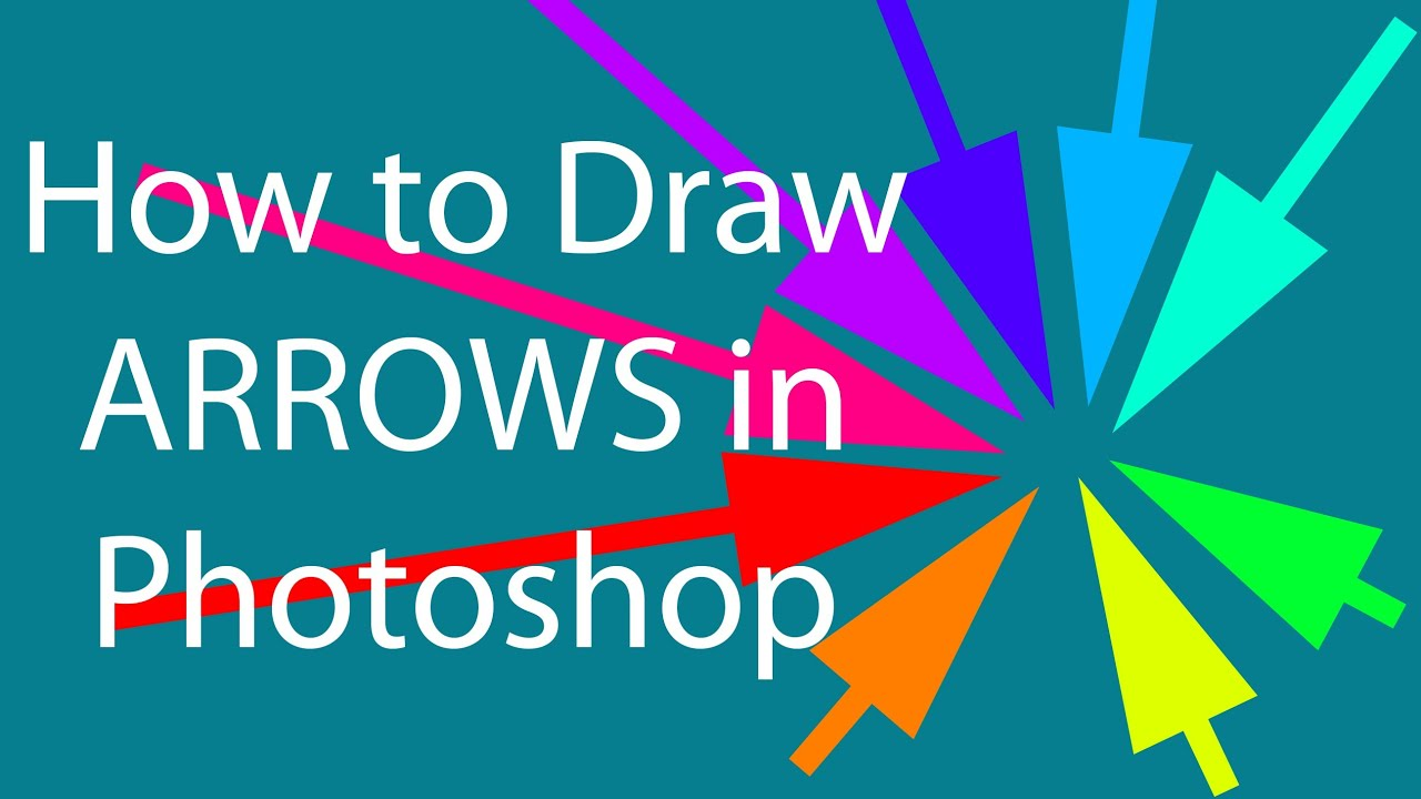 Drawing Lines In Photo Cs : How to draw arrows in photoshop on pc mac youtube