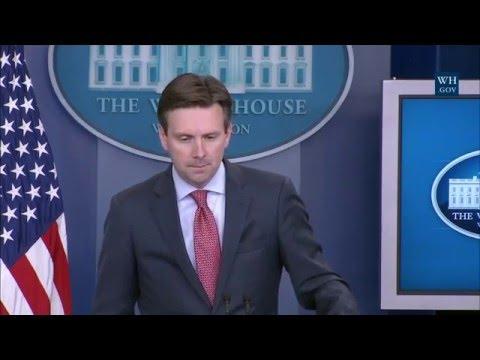 04/26/16: White House Press Briefing