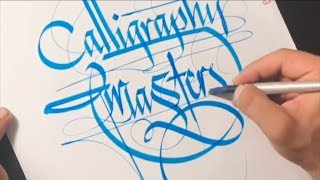 Super Satisfying Turkish Flourishing Calligraphy #3
