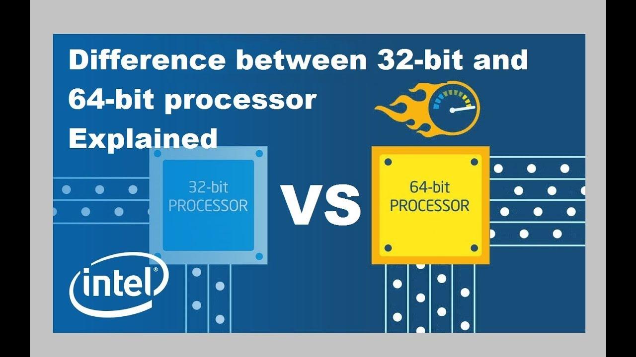 difference between 64bit & 32 bit