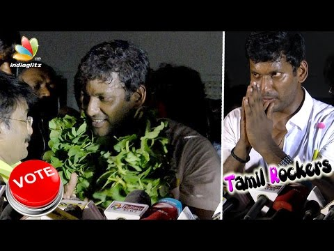 Vishal's Victory Speech : Get ready to FIGHT | Producer Council Election 2017 Result