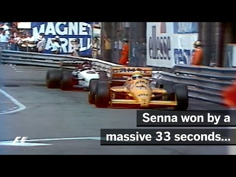Ayrton Senna's First Win In Monaco | 1987 Monaco Grand Prix