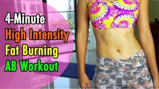4-Minute High Intensity Fat Burning AB Workout (Bikini Body)