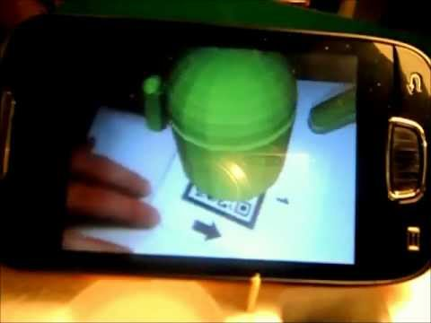 Augmented Reality system through QR Code on Android