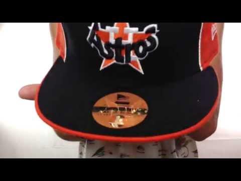 Houston Astros COOP 'DECEPTOR-2 PINWHEEL' Navy-Orange Fitted Hat
