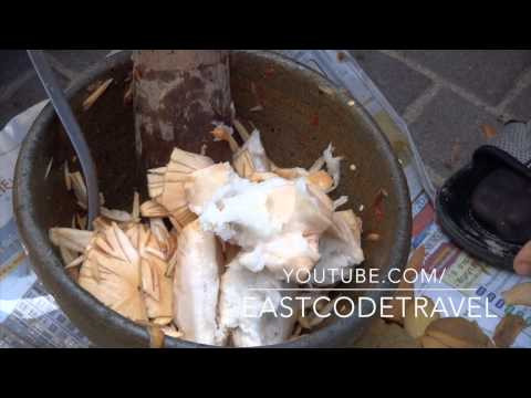 Thai Santol spicy salad  Pattaya street food