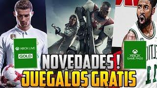 NOVEDADES | DESCARGALOS GRATIS ! XBOX LIVE GOLD Y GAME PASS OFERTAS