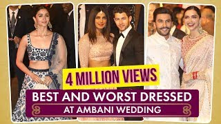 Priyanka Chopra, Deepika Padukone: Best and Worst Dressed at Ambani Wedding| Pinkvilla