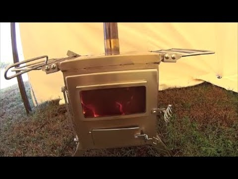 New wood stove for the wall tent! & New wood stove for the wall tent! - YouTube