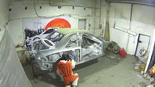 Painting. Standox VOC System-Fuller. Building Replica SUBARU Impreza WRC Prodrive.