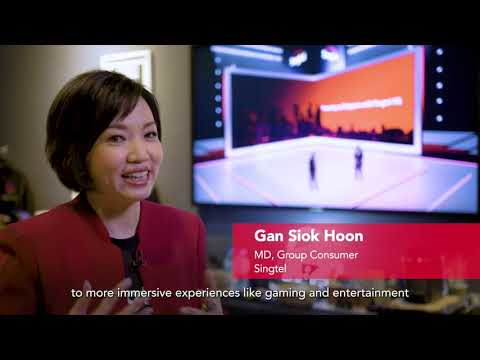 """Behind the scenes of """"Powering Up Singapore with Singtel 5G"""" event."""