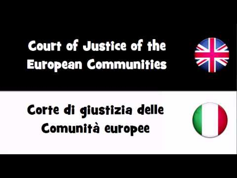 VOCABULARY IN 20 LANGUAGES = Court of Justice of the European Communities