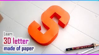 3d letters from paper, letter S s