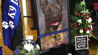 Memorial Service Held For Indiana K9 Officer Killed In Line Of Duty