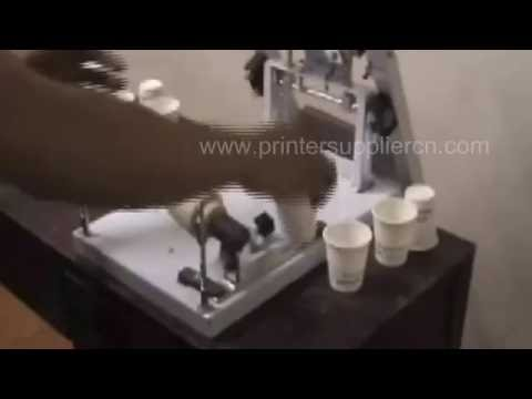Manual Cup Cylinder Screen Printer,Paper Cup Screen Printing Machine