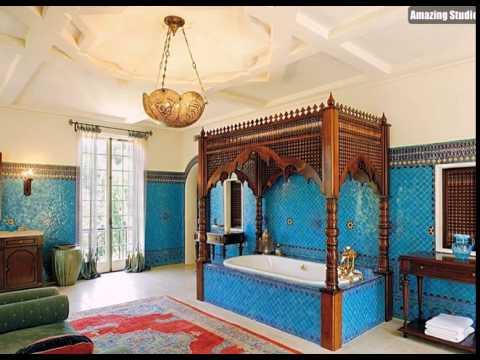 Opulent und bunte badezimmer mit starken mediterranen einfluss ...
