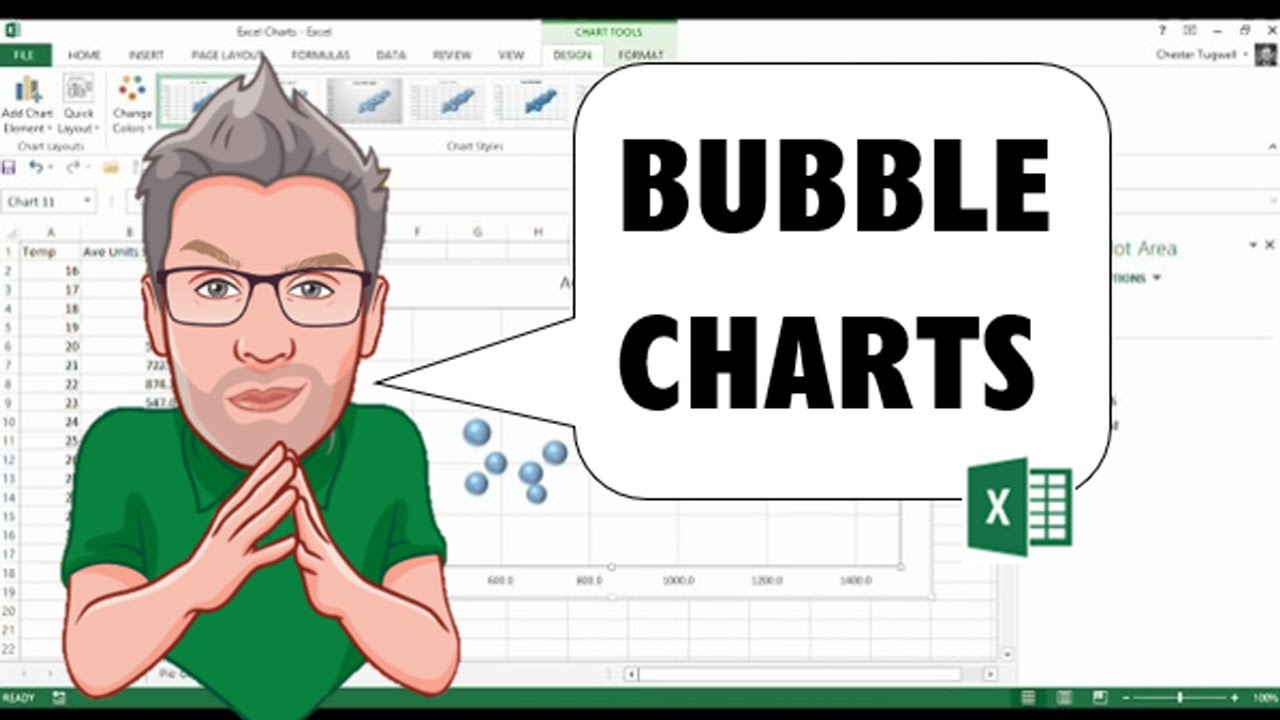 How to create  bubble chart in excel also youtube rh