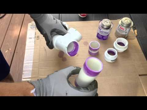How to use PVC Primer and Cement to join PVC Pipe
