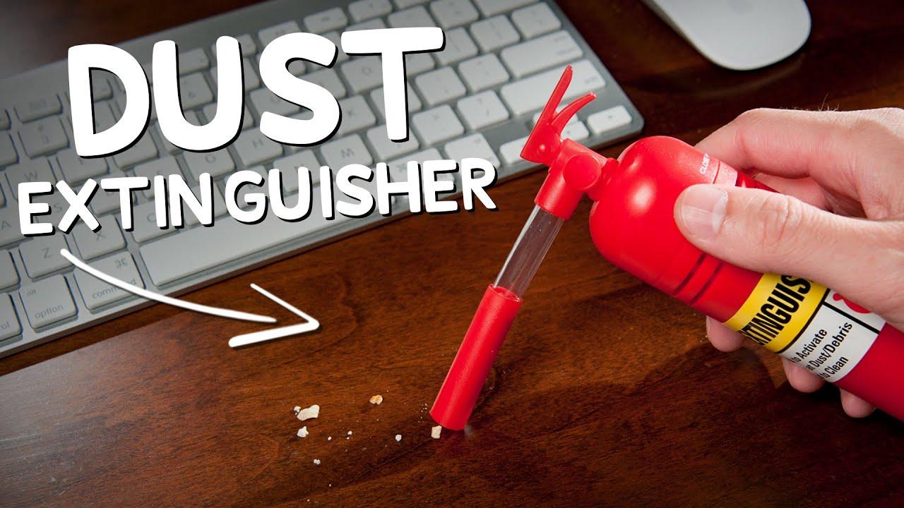 Dust Extinguisher Mini Desk Vacuum  YouTube