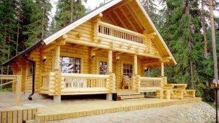 видео Деревянные дома из бревна