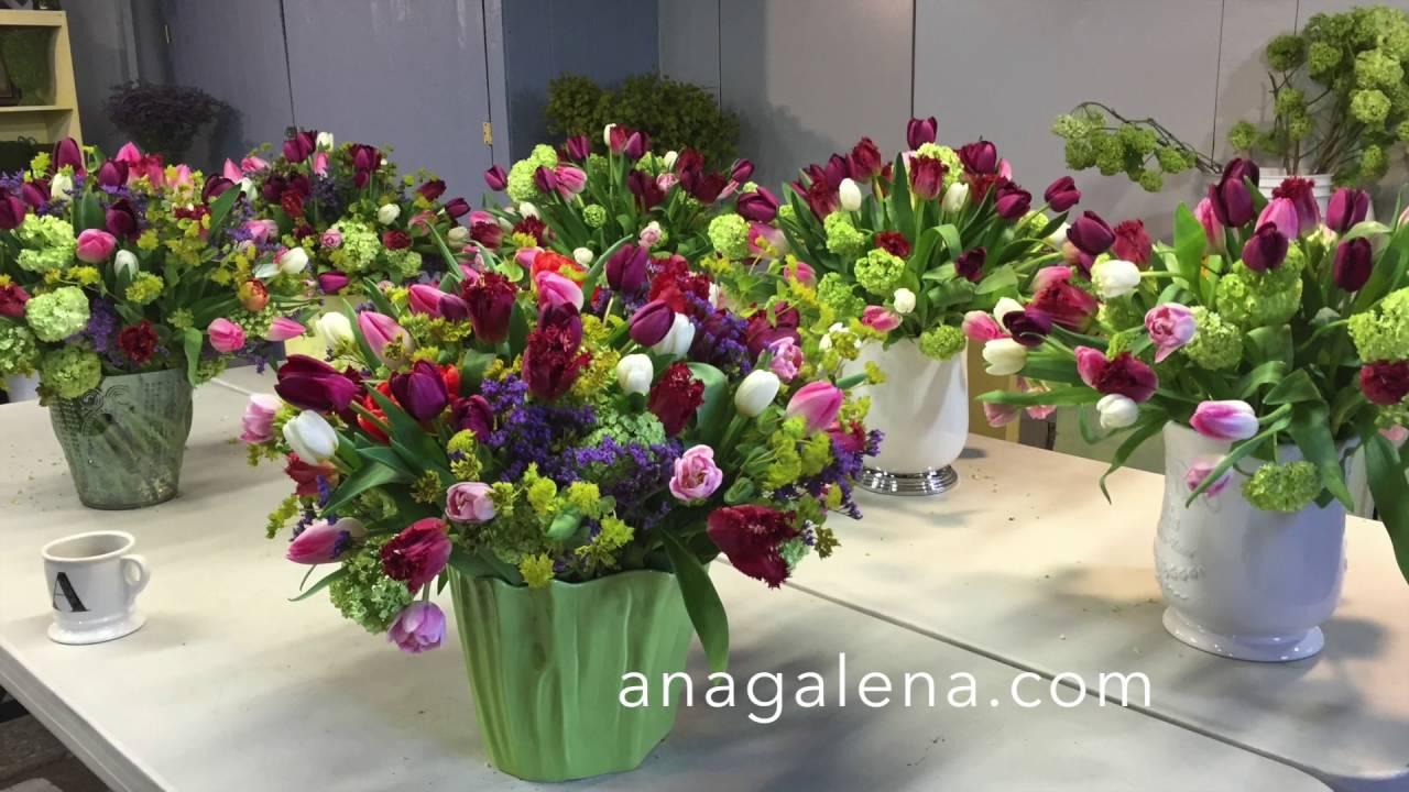 2f7b1535c899e Haciendo arreglos florales con Ana Galena - YouTube