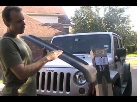Bushwacker Hood Stone Guard Install Jeep Wrangler Jk Youtube