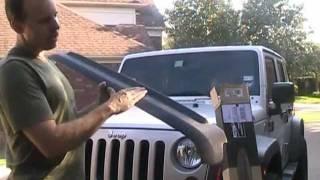 Bushwacker Hood Stone Guard Install Jeep Wrangler JK