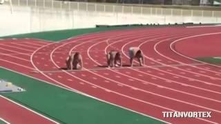 Забег сумоистов на 100 метров