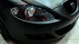 car wrapping greece black matte seat leon wmv