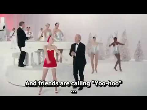 Miley Cyrus, Bill Murray, Paul Shaffer and George Clooney - Sleigh Ride