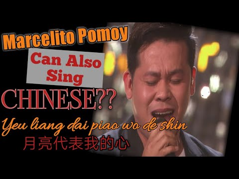 Marcelito Pomoy Sing Chinese Song  The Moon Represents My Heart 月亮代表我的心