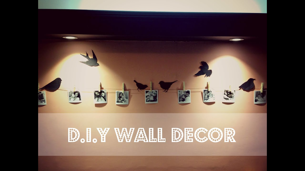 DIY Easy Wall Decor  Birds On Wall YouTube - Diy wall decor birds