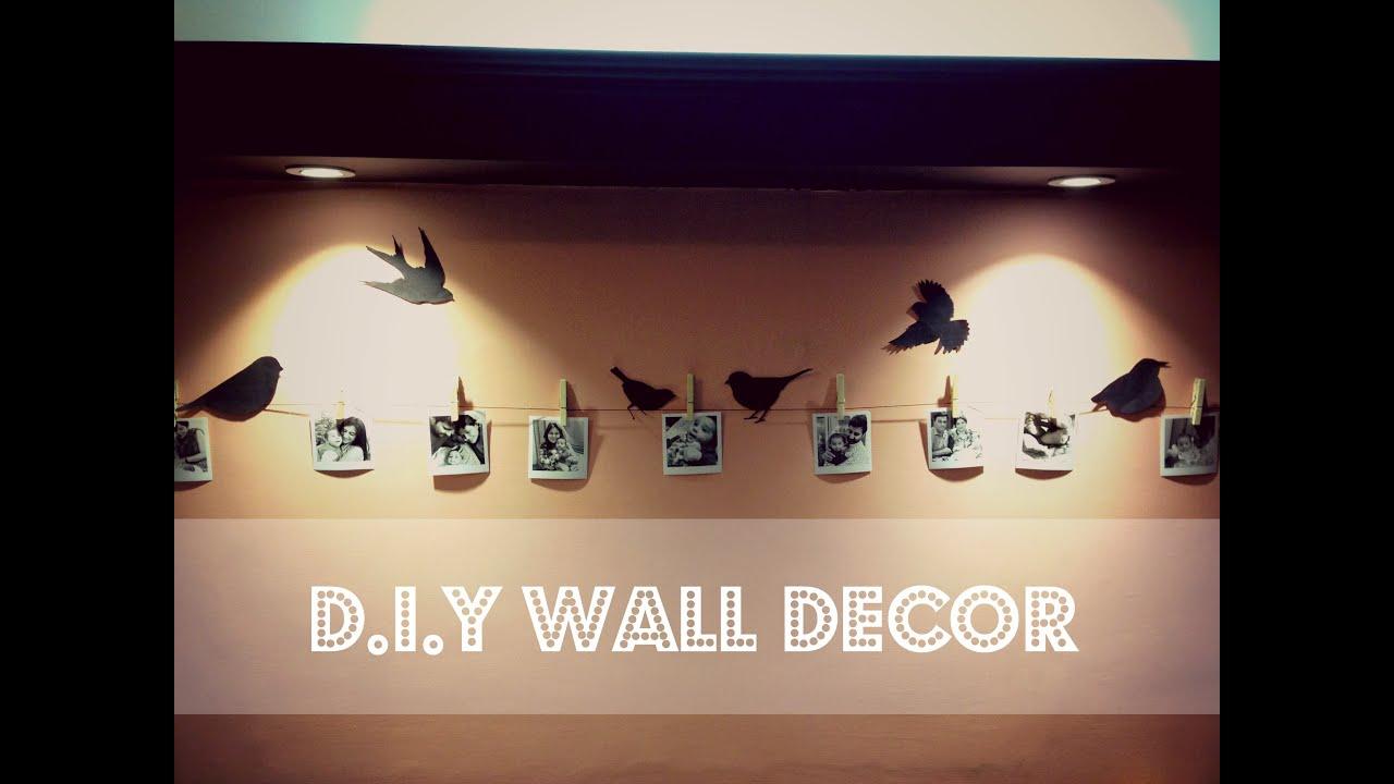 Diy Easy Wall Decor Birds On Wall Youtube