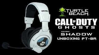 unboxing headset turtle beach call of duty ghosts ps3 ps4 xbox 360 pt br